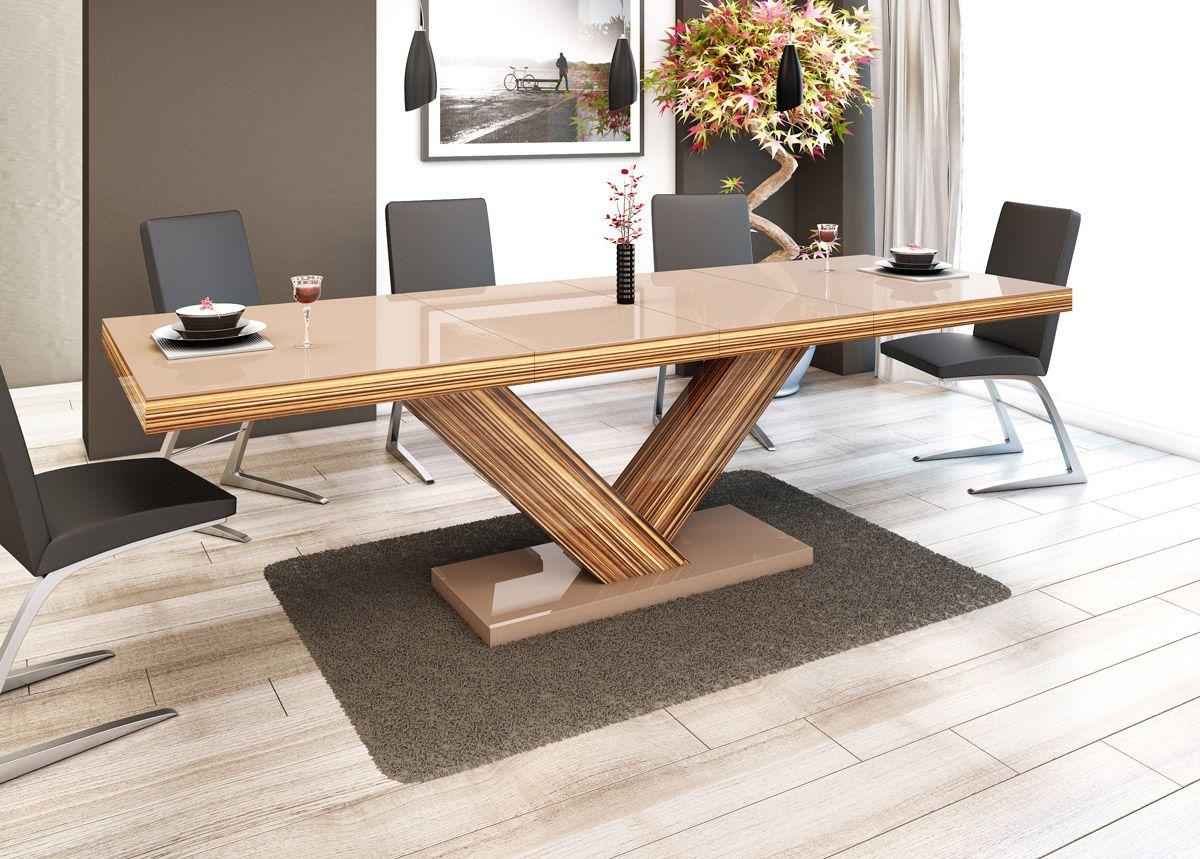 Tisch esstisch wohnzimmertisch cappuccino sevilla for Tisch esszimmer holz
