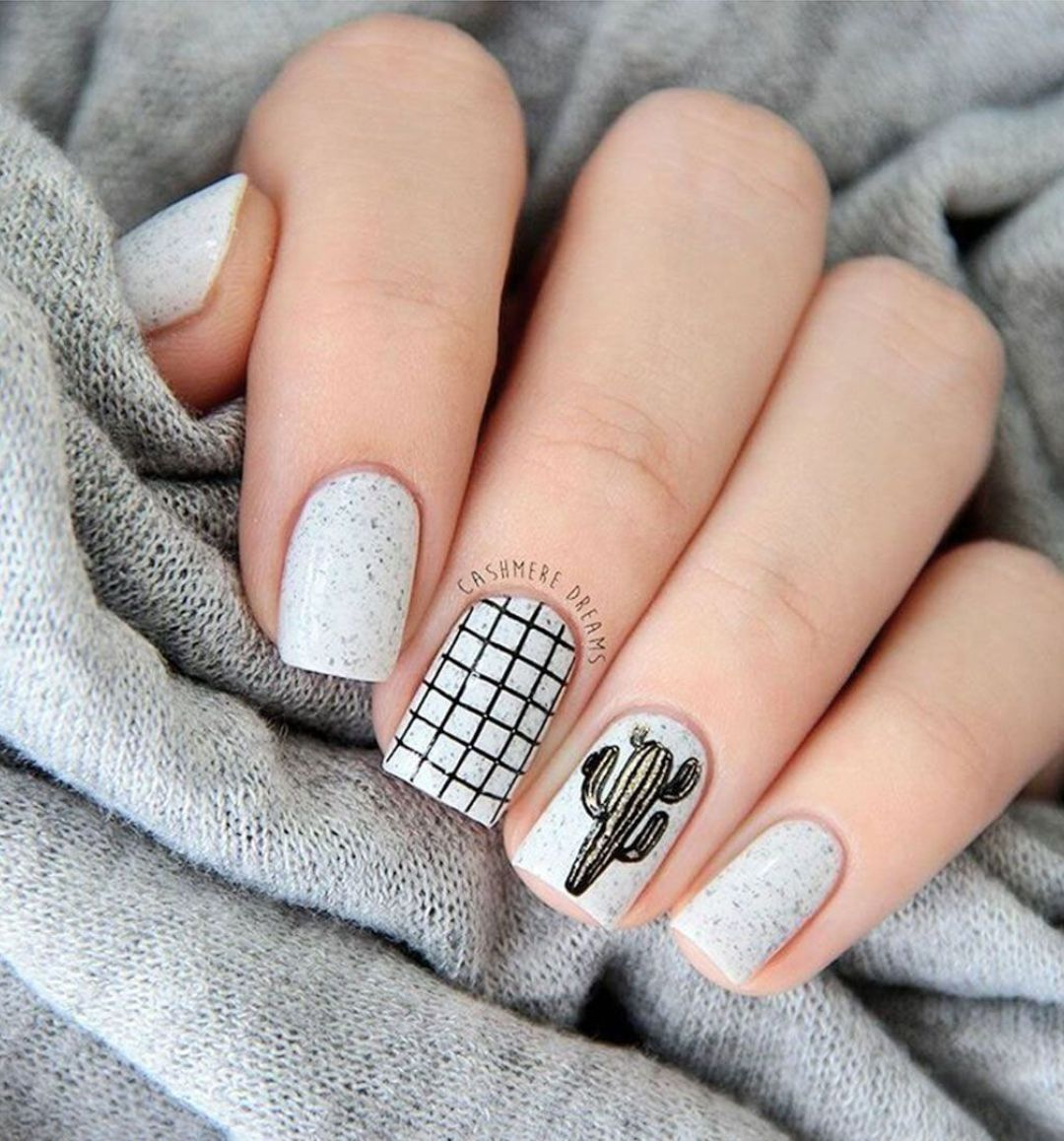 41 eye-catching mismatched nail art design ideas - nails ,matte nail ...