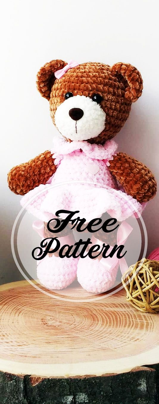 Beauty and Free Amigurumi Crochet Bear Pattern #crochetbearpatterns
