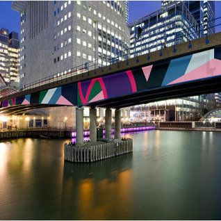 Sinta Tantradesigned painting unveiled at Canary Wharf in London
