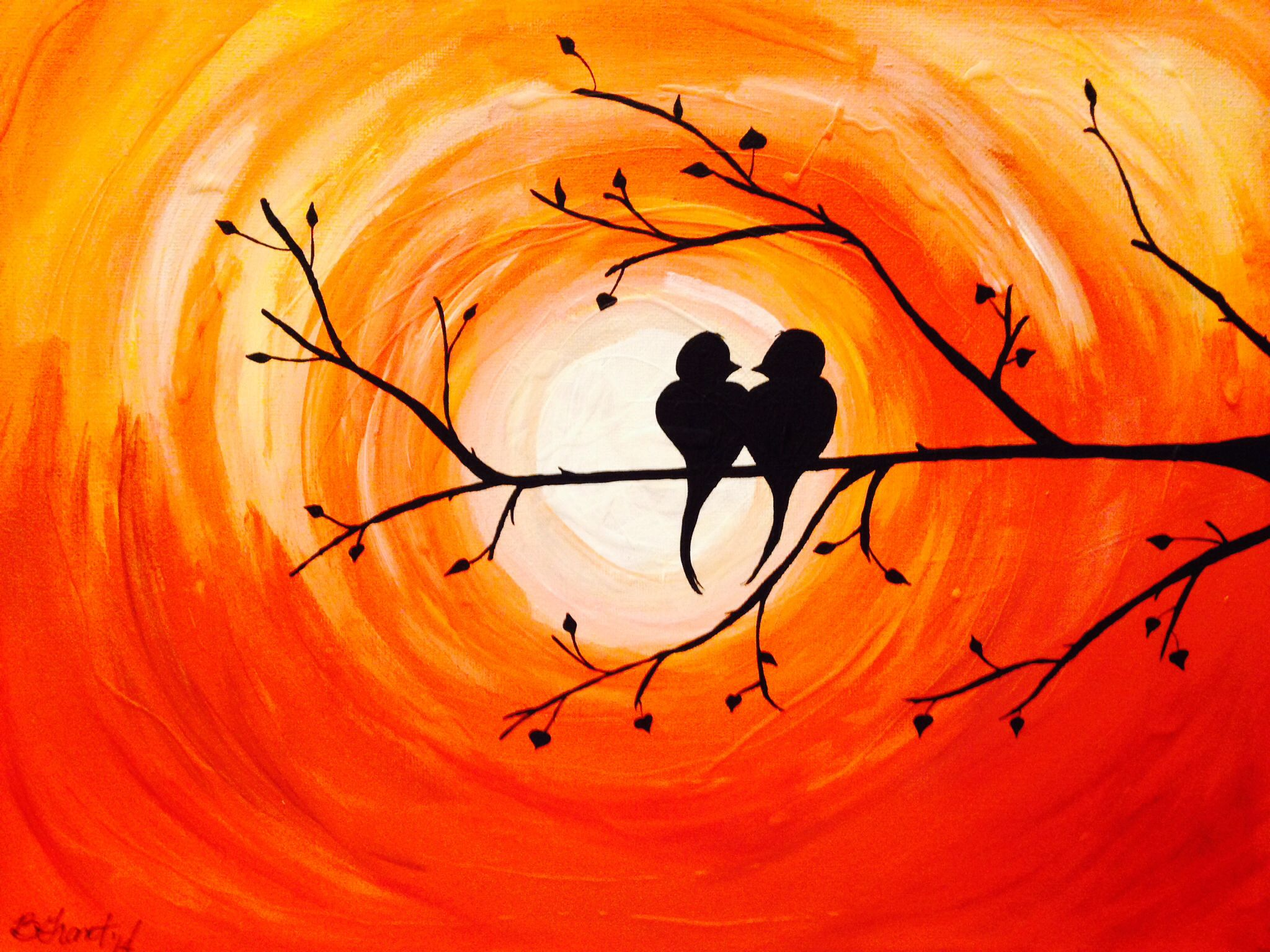 My Love Birds (a gift for mom and dad)