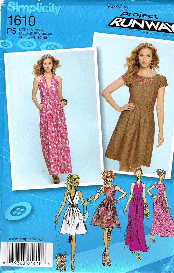 Simplicity 1610 Sewing Pattern Supplies Misses by OhSewWorthIt, $4.95
