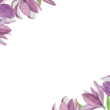 Purple Flower Border Png And Vector Flower Border Png Purple Flowers Flower Border Clipart