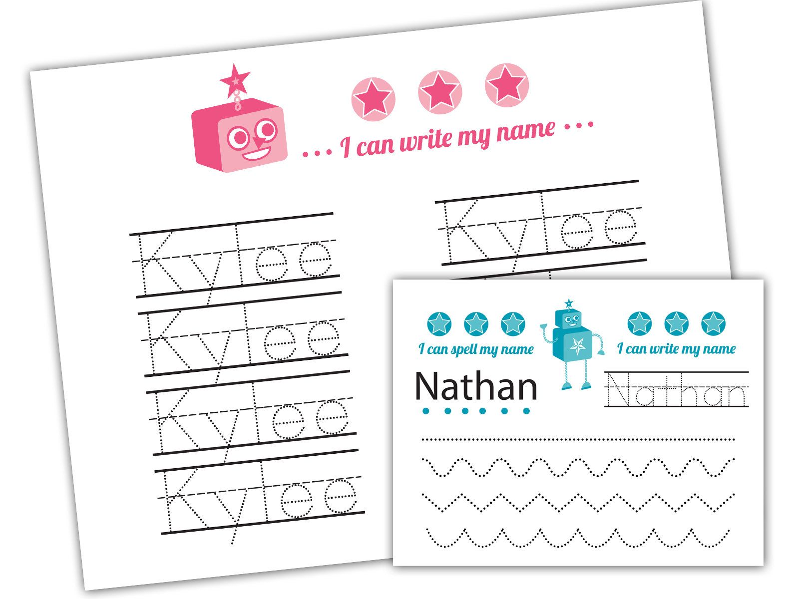 Personalized Custom Name Handwriting Practice Worksheet