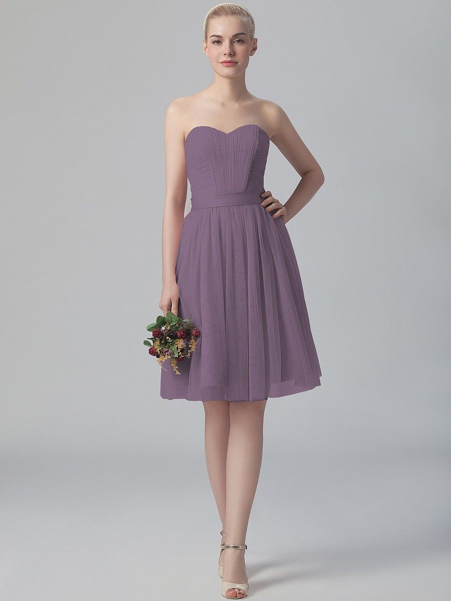 Pleated Sweetheart Tulle Dress Plus and Petite sizes