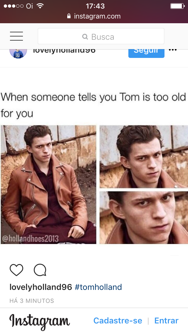 I M Like Um No He S Only 7 Years And 8 Months Older Than Me There Are A Lot Of Couples With A Bigger Age Ga Tom Holland Spiderman Tom Holland Marvel Jokes