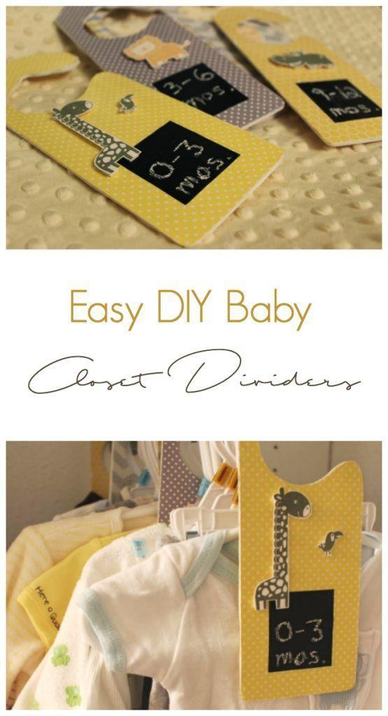 DIY Baby Closet Dividers Baby closet dividers, Diy baby