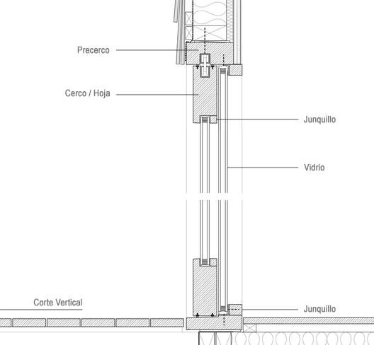 Galer a de materiales ventanas componentes y detalles - Detalle carpinteria aluminio ...