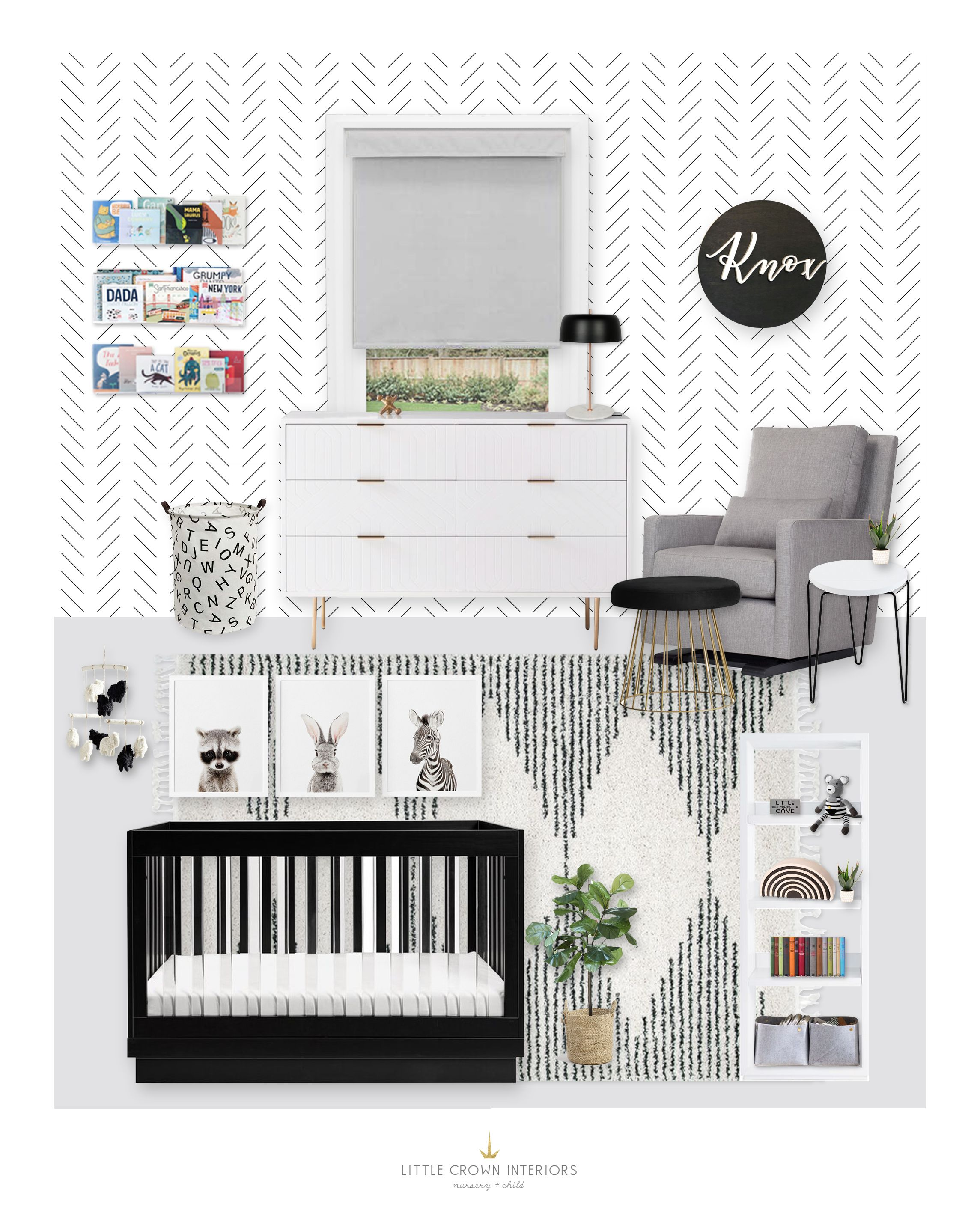A Modern Black And White Nursery E Design Reveal In 2020 With