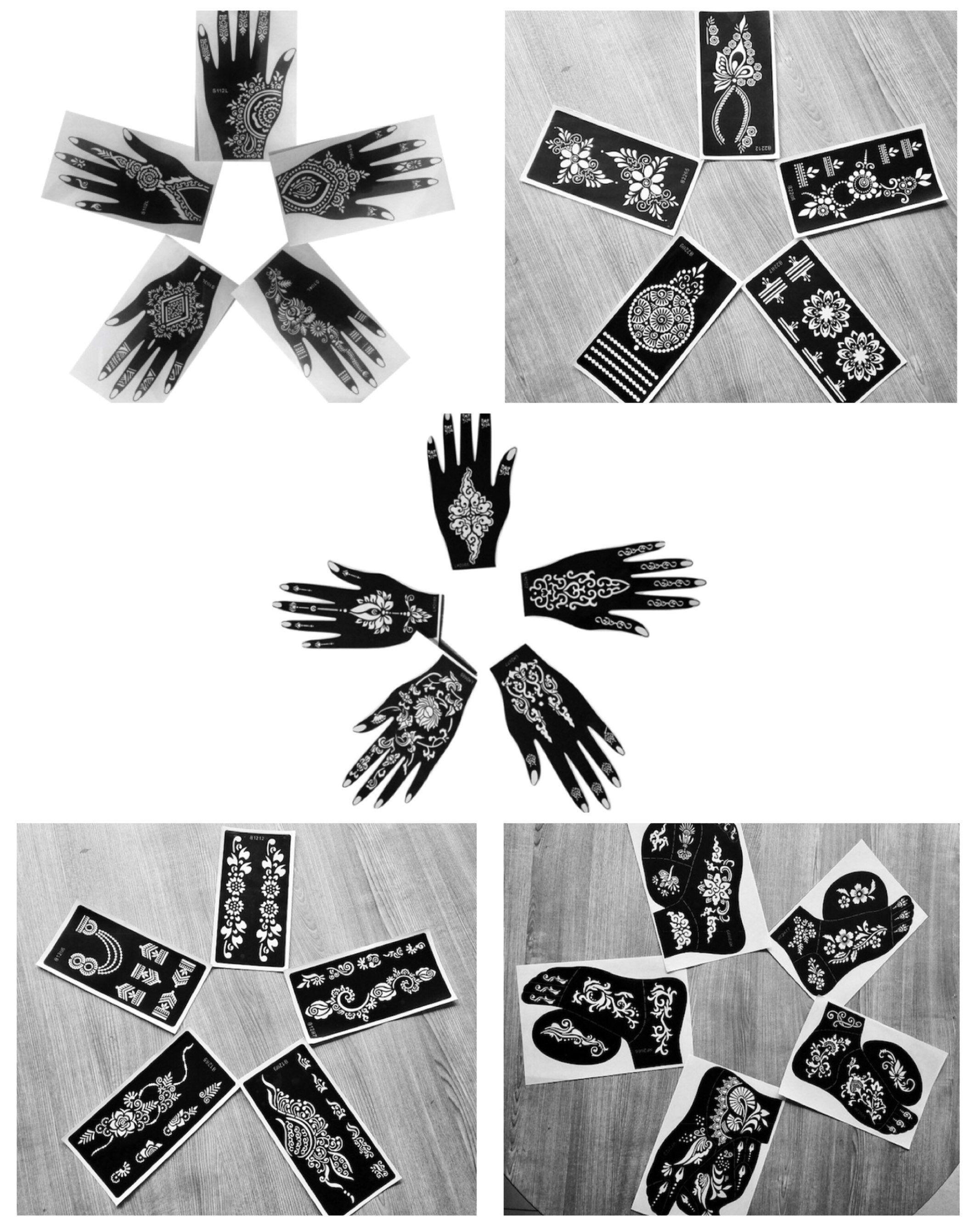 20 henna stencils kit package henna stencils henna kit