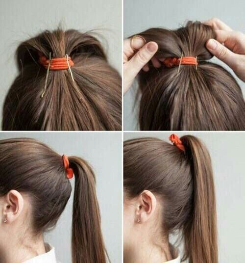 How to add volume to your ponytail with bobby pins | Hair and ...