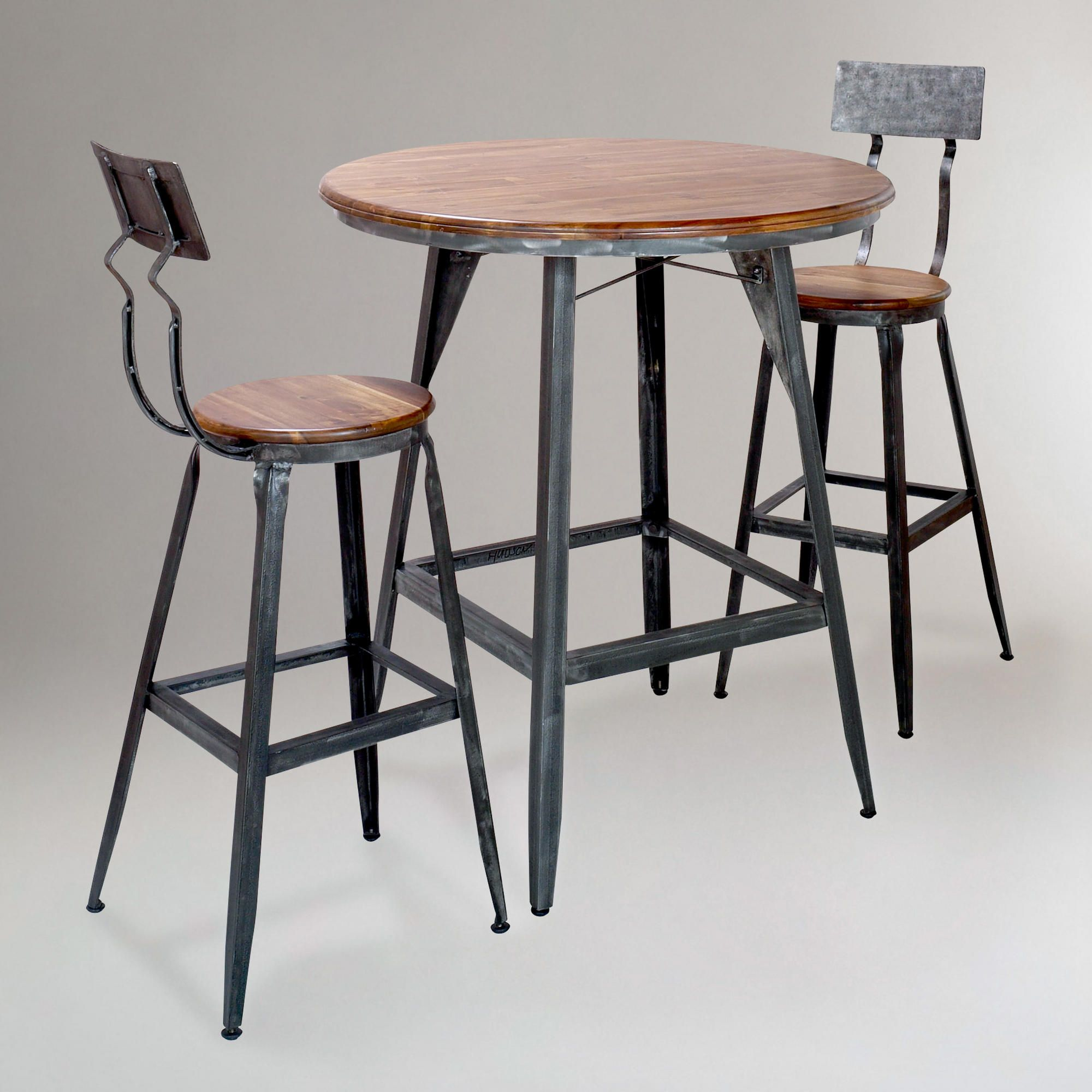 Wood And Metal Hudson Pub Table Pub Table And Chairs Pub Table Bistro Table