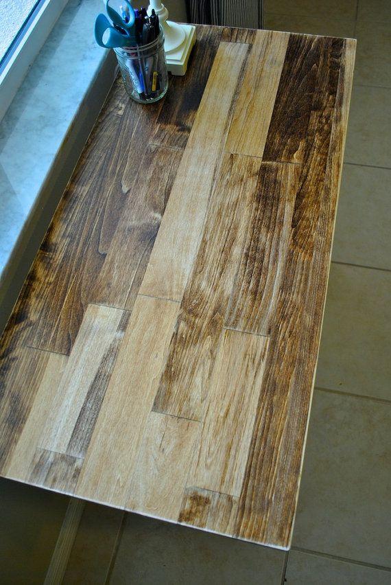 Solid Wood Desk Or Laptop Desk Aspen Wood Top With Metal Etsy Solid Wood Desk Aspen Wood Wood Desk