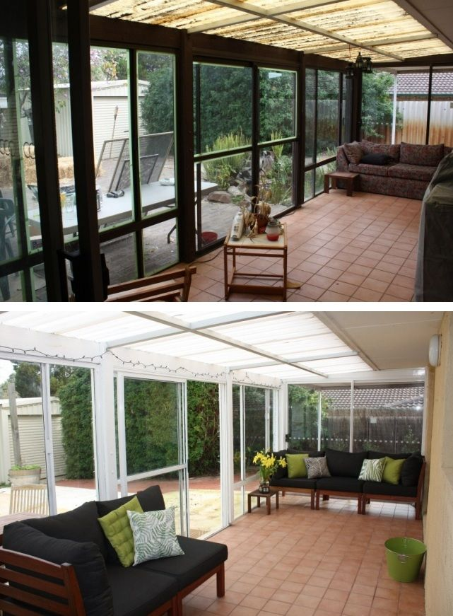 70s Sunroom Before After On A Budget