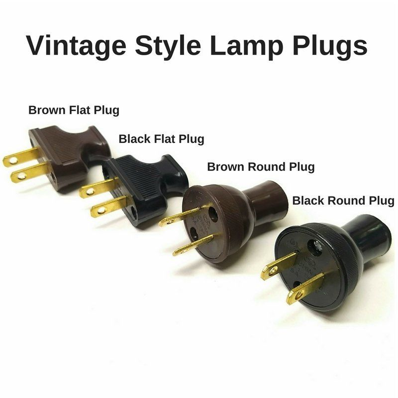 Vintage Lamp Plugsadd The Perfect Touch To Your Lamp With One Of Our Ul Listed Vintage Style Lamp Plugs Vintage Lamp Plu Vintage Lamps Lamp Parts Antique Lamps