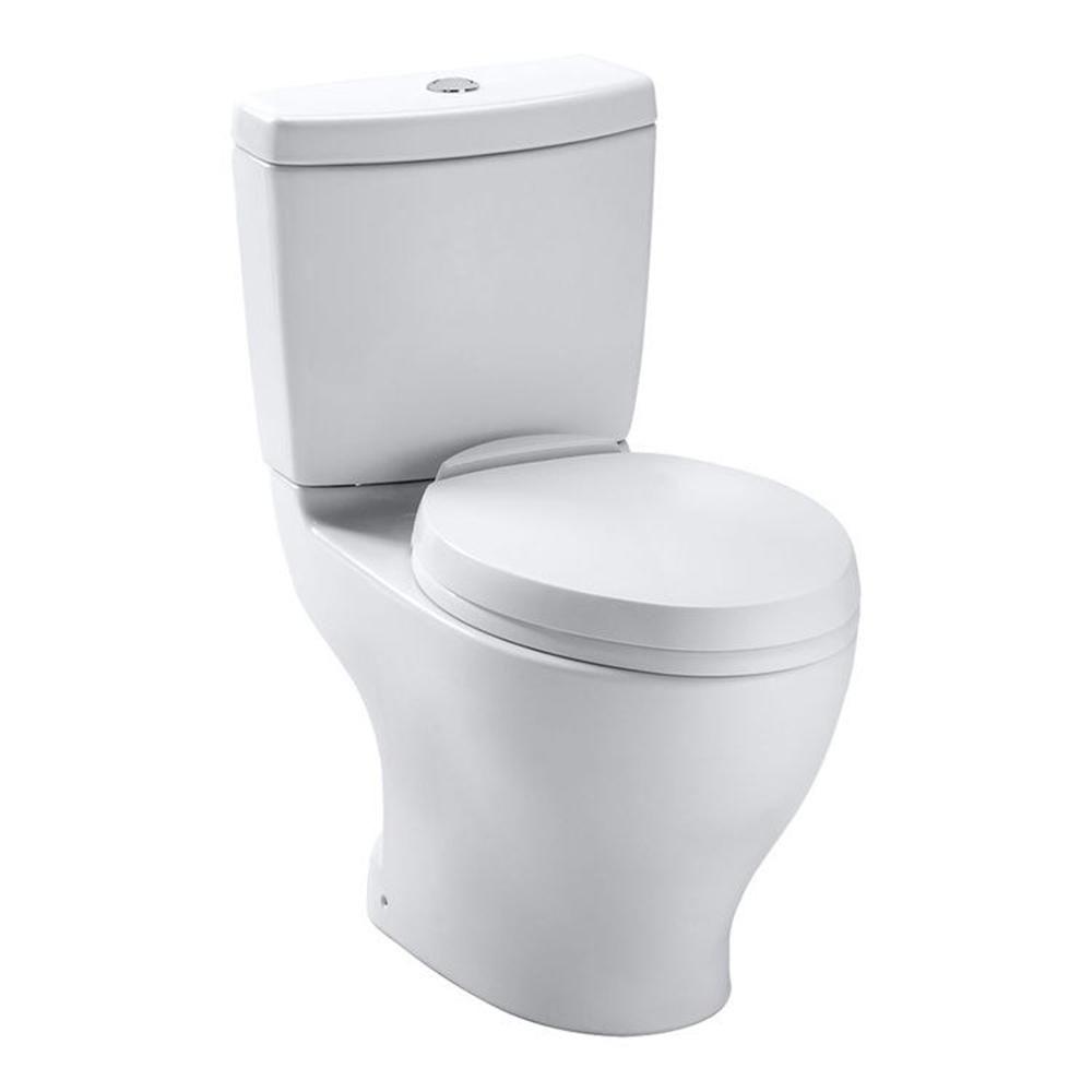 TOTO Aquia II 2-Piece 0.9/1.6 GPF Dual Flush Elongated Toilet in ...