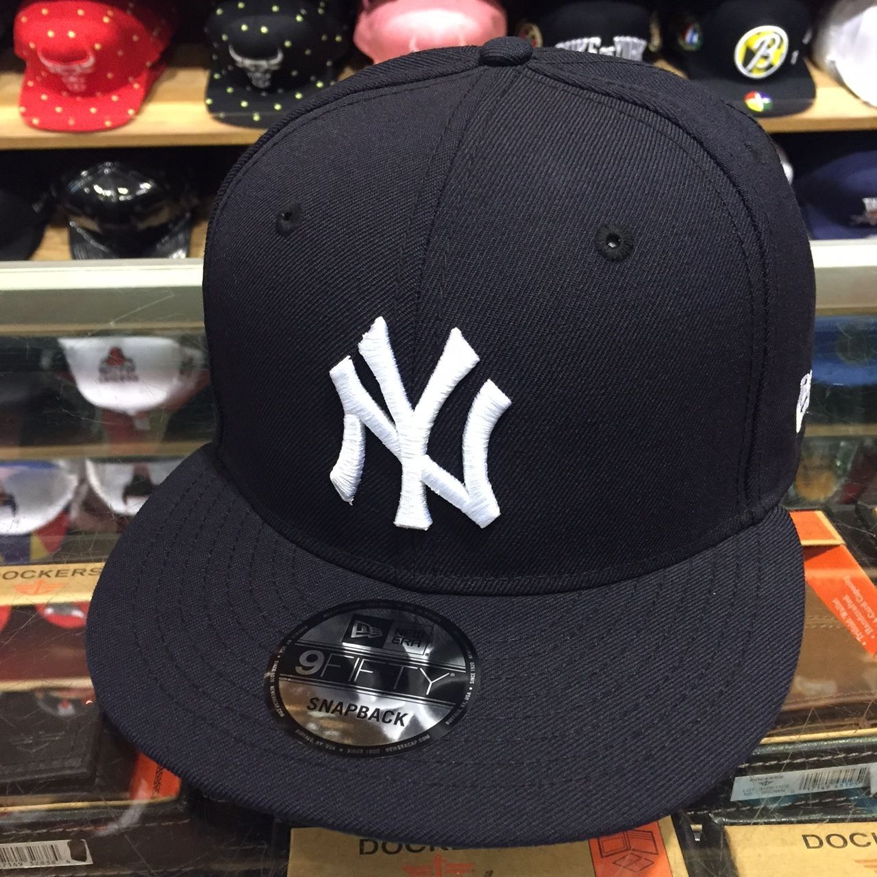 c7e3bc5417a Era York Yankees Snapback Hat Cap All Navy White (Green) Bottom 9Fifty