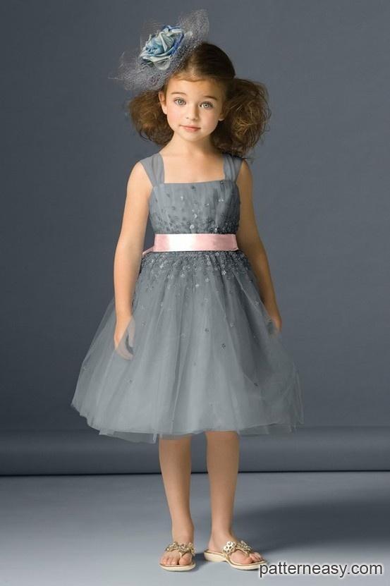 8eea792cad71b0c Выкройка нарядного платья для девочки | Выкройки онлайн и уроки  моделирования