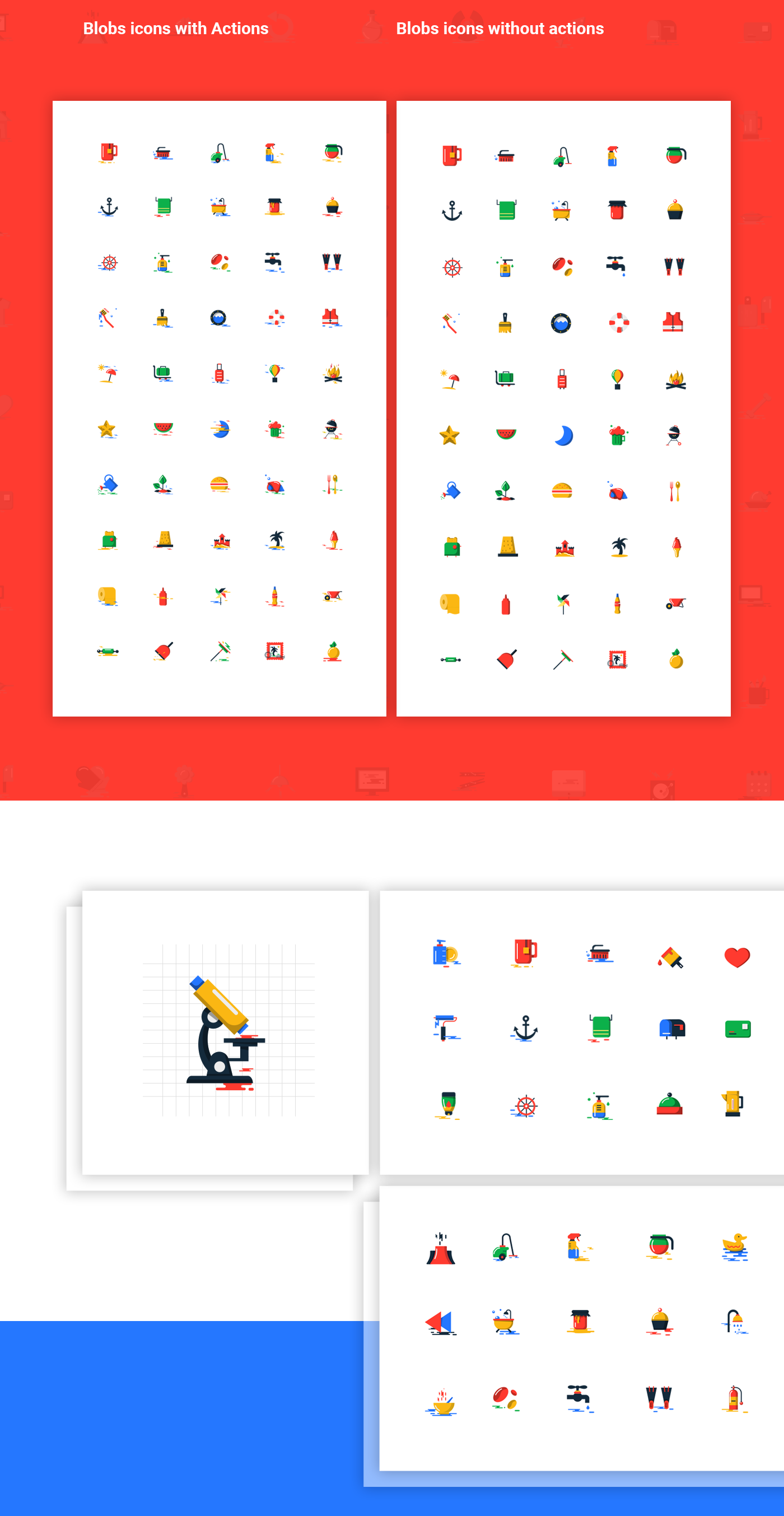 1000+ Free blobs flat icons with two styles on Behance