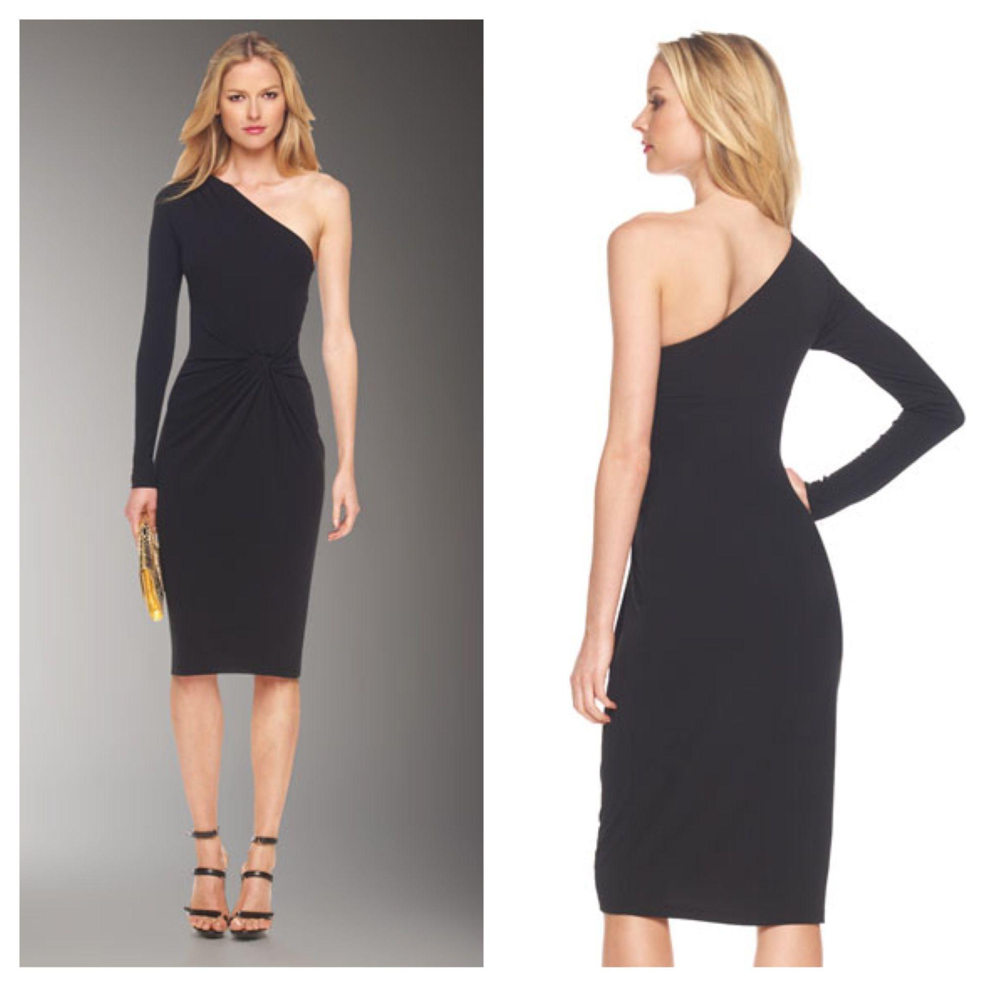 Off the shoulder black long sleeve short dress