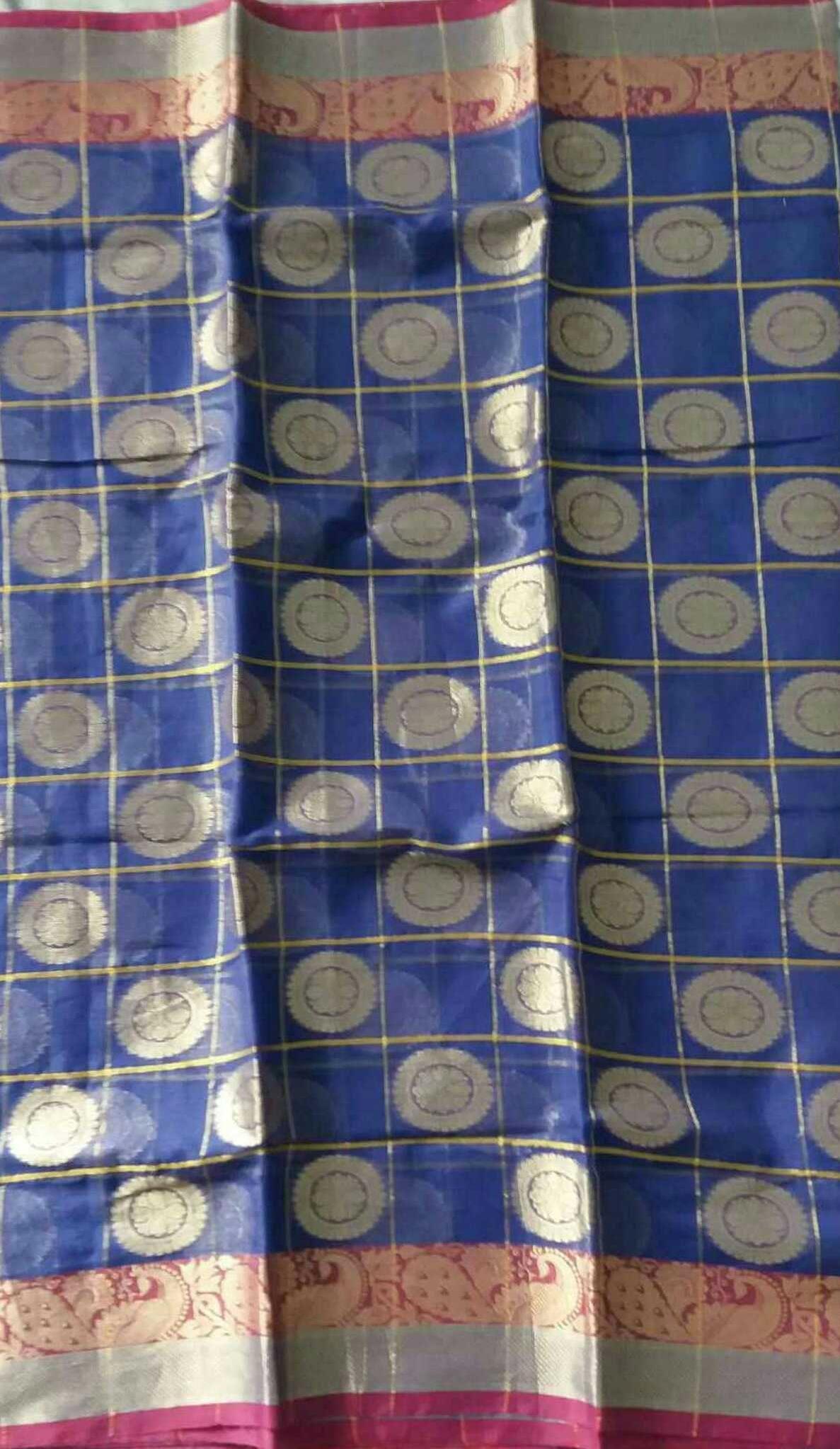 Kota Art Silk/Cotton saree-KOTA05280   Kota Hand Block Printed Art ...