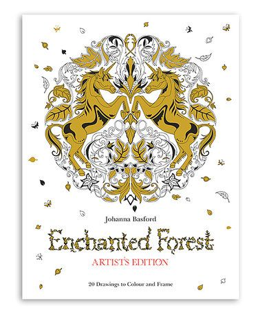 Chronicle Books Enchanted Forest Artists Edition Coloring Book