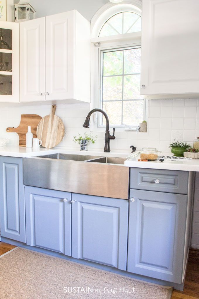How to Paint Kitchen Cabinets without Sanding with ...