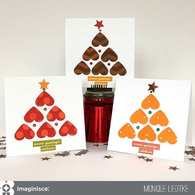 Christimas Cards by Monique Liedtke using Imaginisce's Give Thanks collection. #imaginisce #monique_liedtke