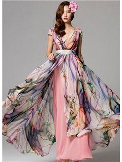 Maxi chiffon dresses sale