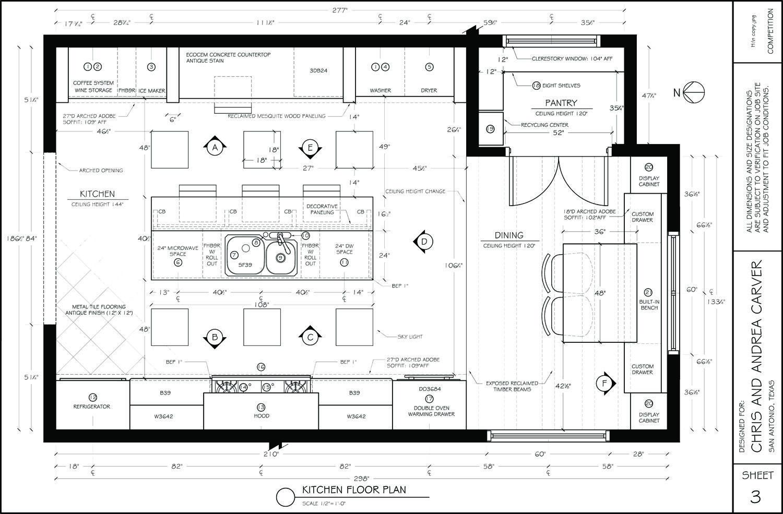 Kitchen Floor Plan Designed By Jeff Byui Mimari