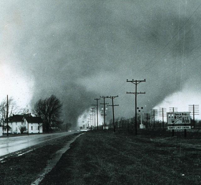 Picture Of The Double Tornado That Hit Midway Trailer Park In Indiana