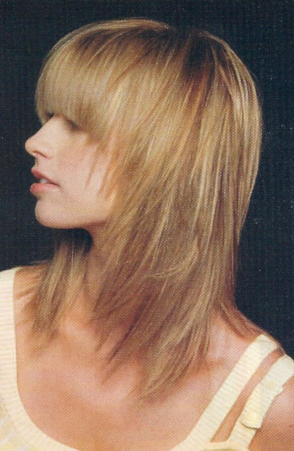 Side View Of Front Layer Haircut Appropriate Haircut With The