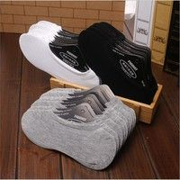 Wish | 10 Pairs women/Men Cotton Loafer Boat Non-Slip Invisible Low Cut No Show Socks