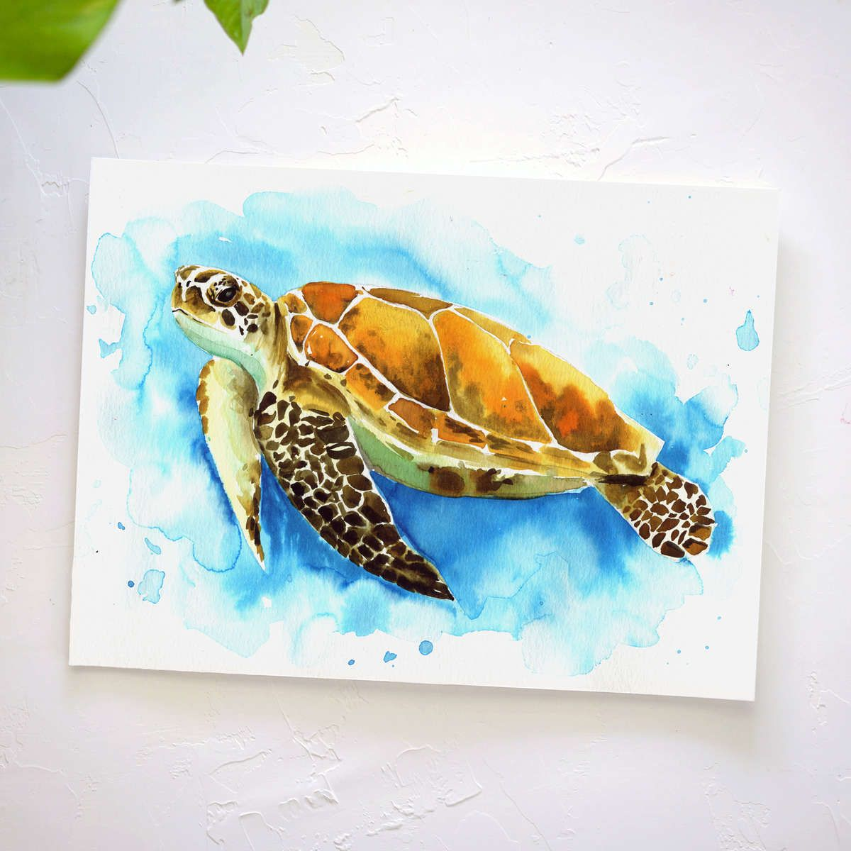 Watercolor Subscription Box Let S Make Art Sea Turtle Painting