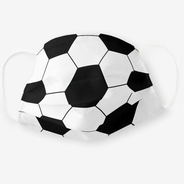 Soccer Ball Cute Sports Print For Kids Cloth Face Mask Zazzle Com In 2020 Sports Prints Soccer Ball Kids Prints