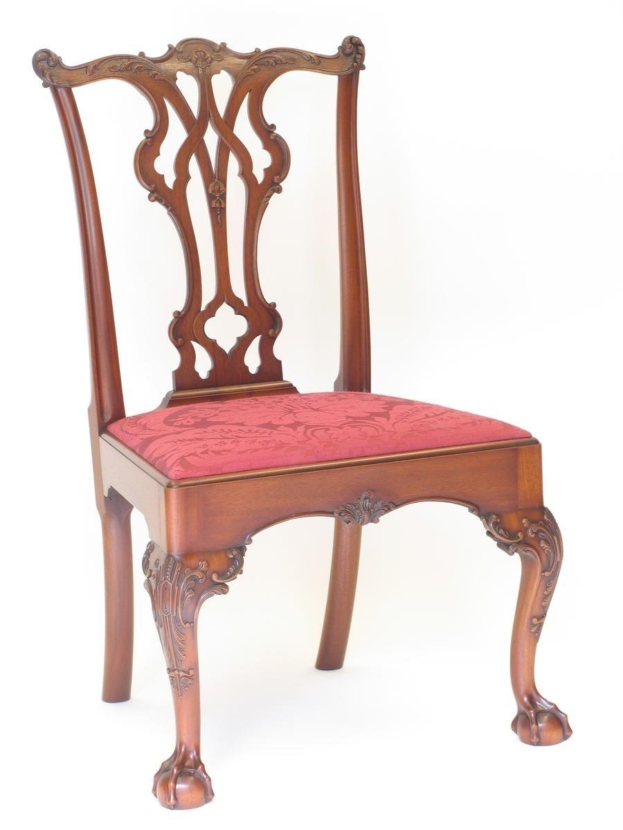 Handmade Philadelphia Chippendale Side Chair by E. Jacobsen . - Handmade Philadelphia Chippendale Side Chair By E. Jacobsen