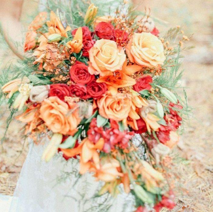 Top Herbst Blumenstrauß Ideen Rosen Gräser | Blumen | Brautsträuße #OX_25
