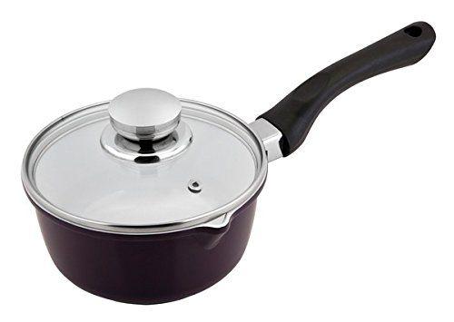 Cs Kochsysteme Selm 1 3l Ceramic Saucepan With Glass Lid Matte Purple Nonstick And Oven Safe Cookware Sets Sauce Pans Ceramic Hobs