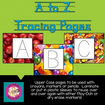 Letter Tracing Activity Sheets Uppercase A to Z Letter