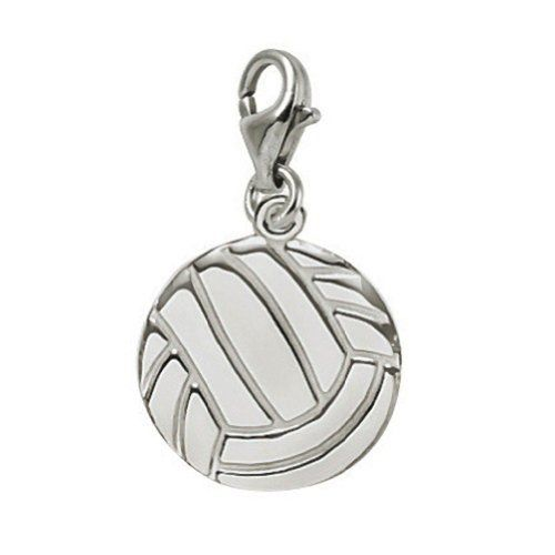 14k White Gold Volleyball Charm With Lobster Claw Clasp Charms For Bracelets And Necklaces Details Can Rembrandt Charms Charms And Charm Bracelets Silver