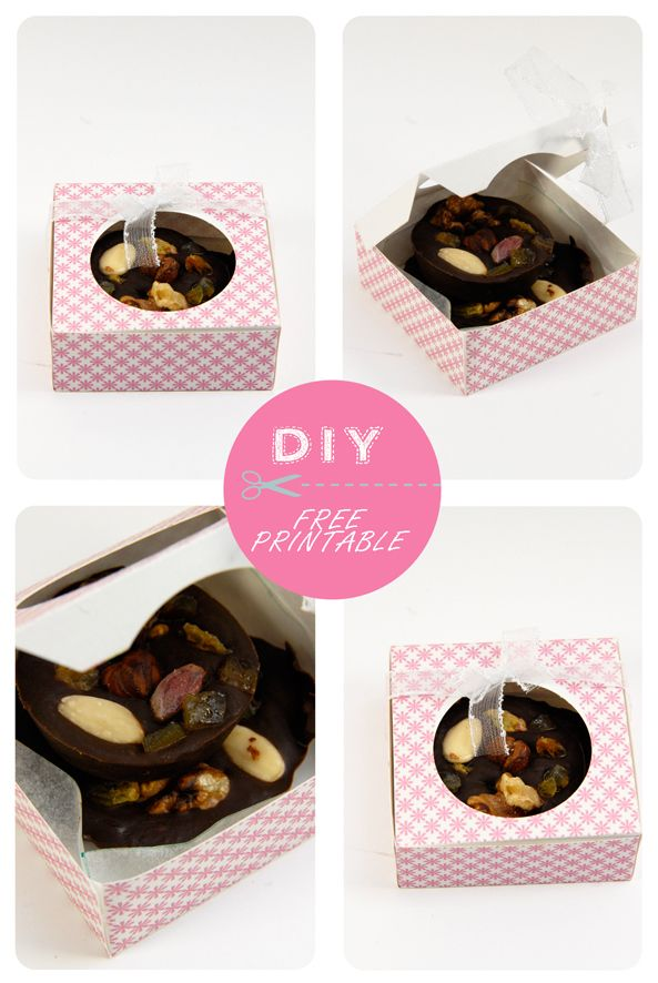 free printable chocolate box 14. Click on link for free template. http://dansmonbocal.com/tag/noel/