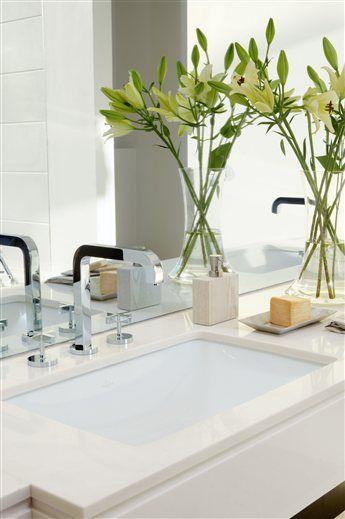 Un baño de tonalidades contrastadas · ElMueble.com · Cocinas y baños
