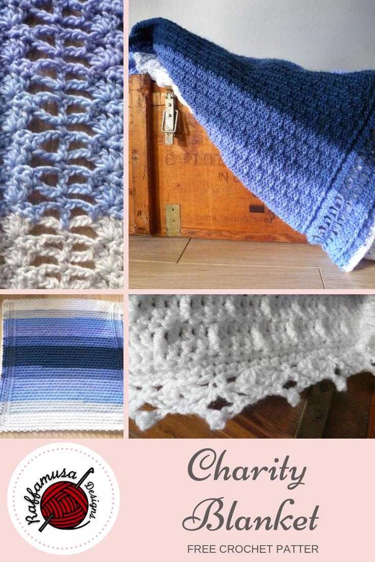 Crochet Charity Blanket Raffamusadesigns Original Pattern Available For Free Crochet Crochet Patterns Free Crochet