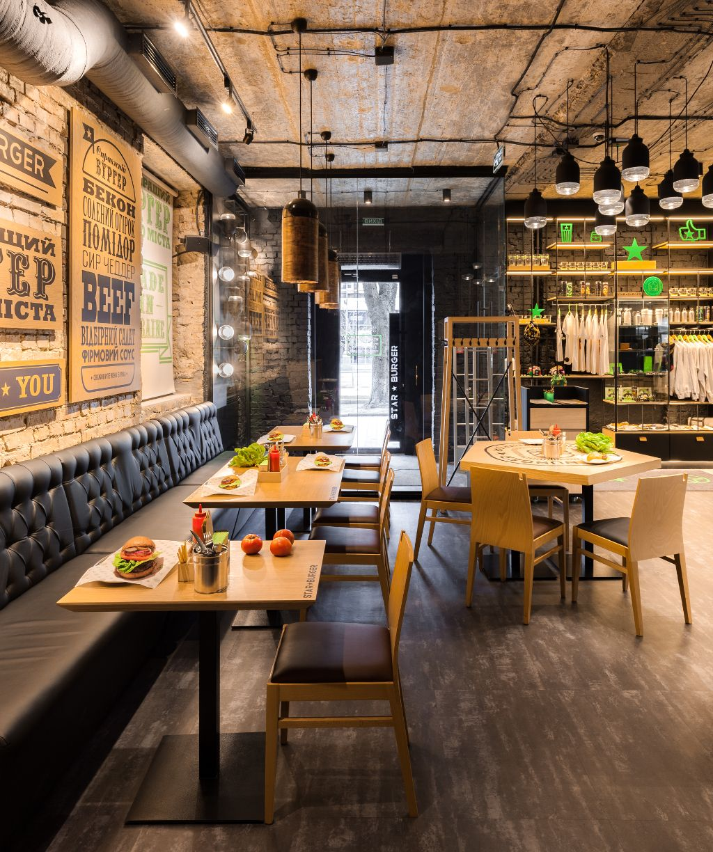 Restaurant Bar Interior Design: Star Burger (Kiev, Ukraine) Sergey Makhno Architects