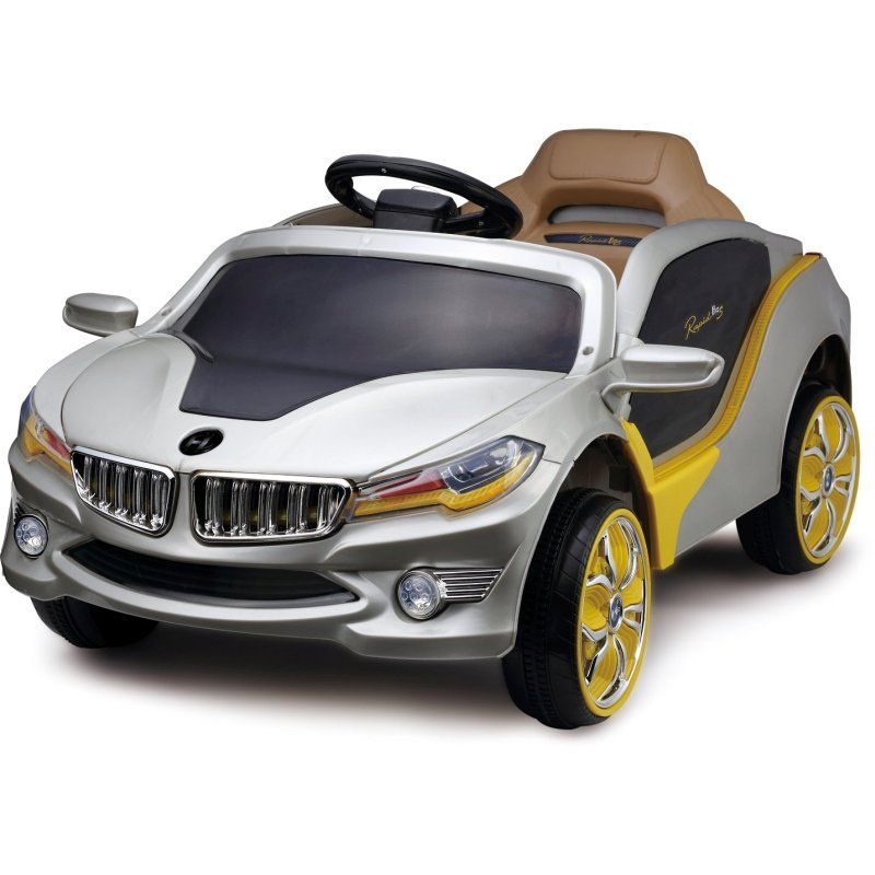 Kid S Electric Silver Luxury Bmw Ride On Car 12v Alana S Birthday