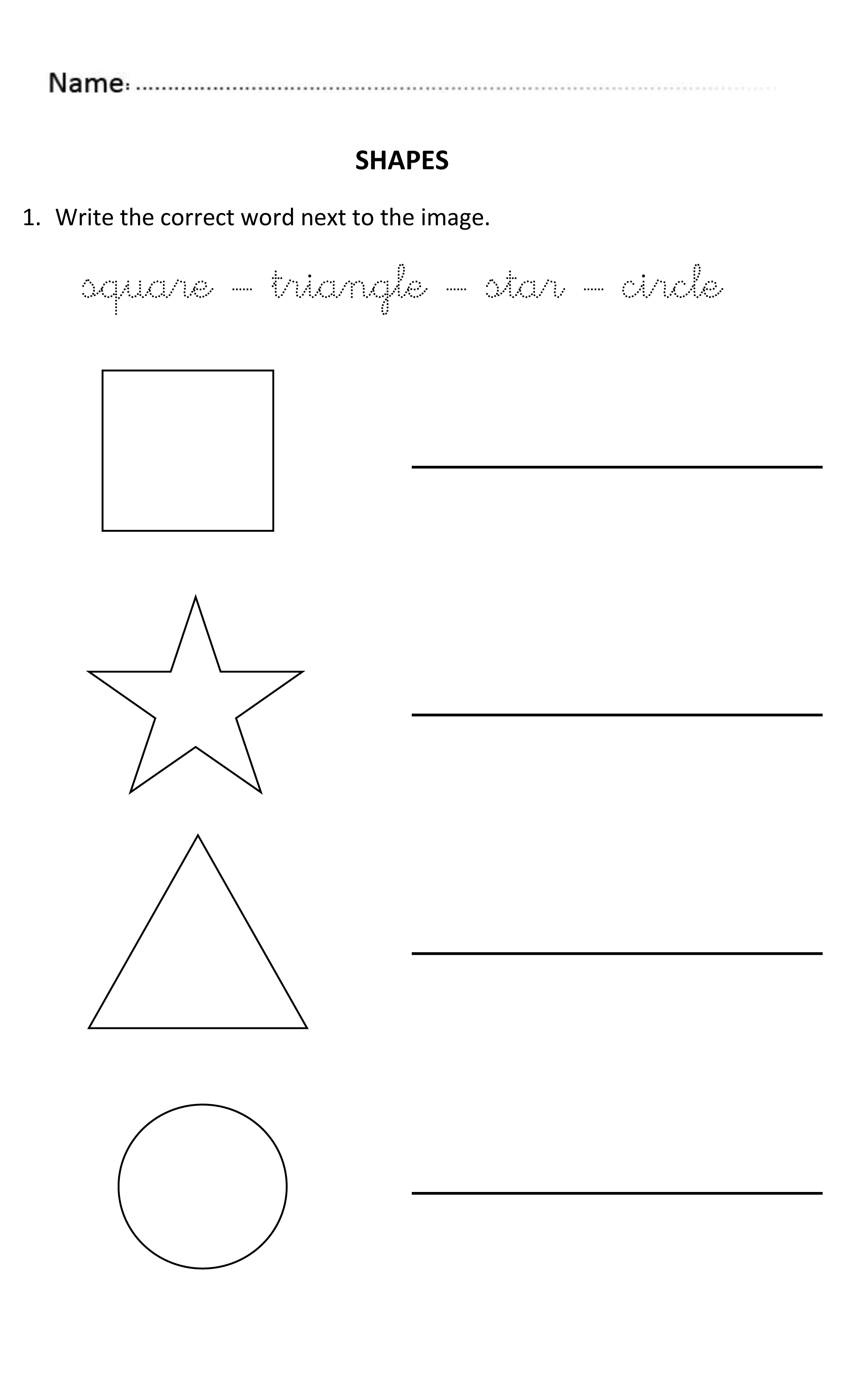 Writing Shapes For 5 And 6 Years Olds Writingshapes