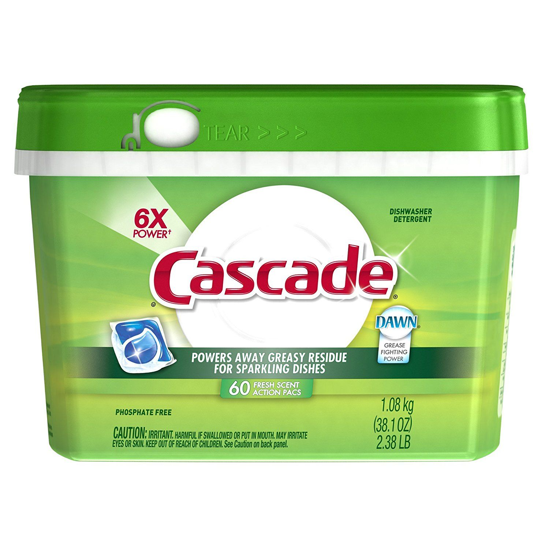 Cascade Actionpacs Dishwasher Detergent Fresh Scent 60 Count