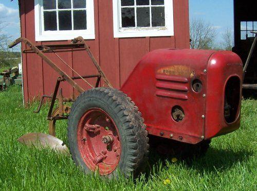 Vintage Garden Tractor Plow : Antique walk behind tractor with plow tractors and