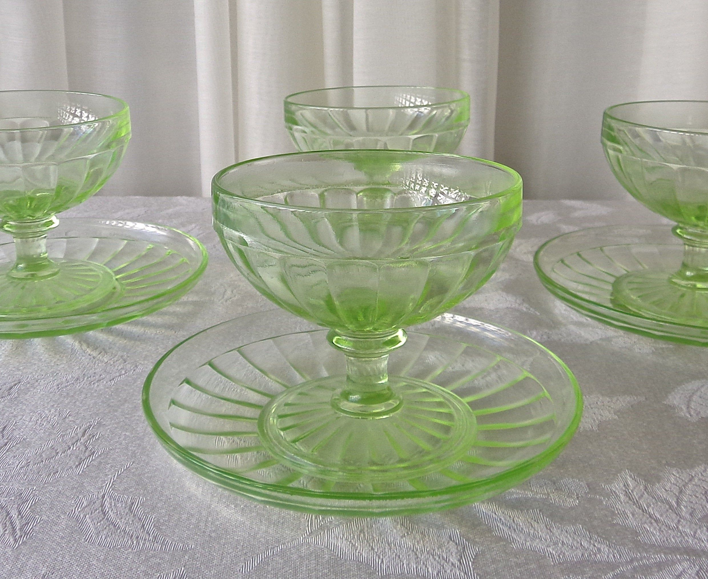 Avon Bubble Glass Sundae Cup Pedestal Crystal Serving