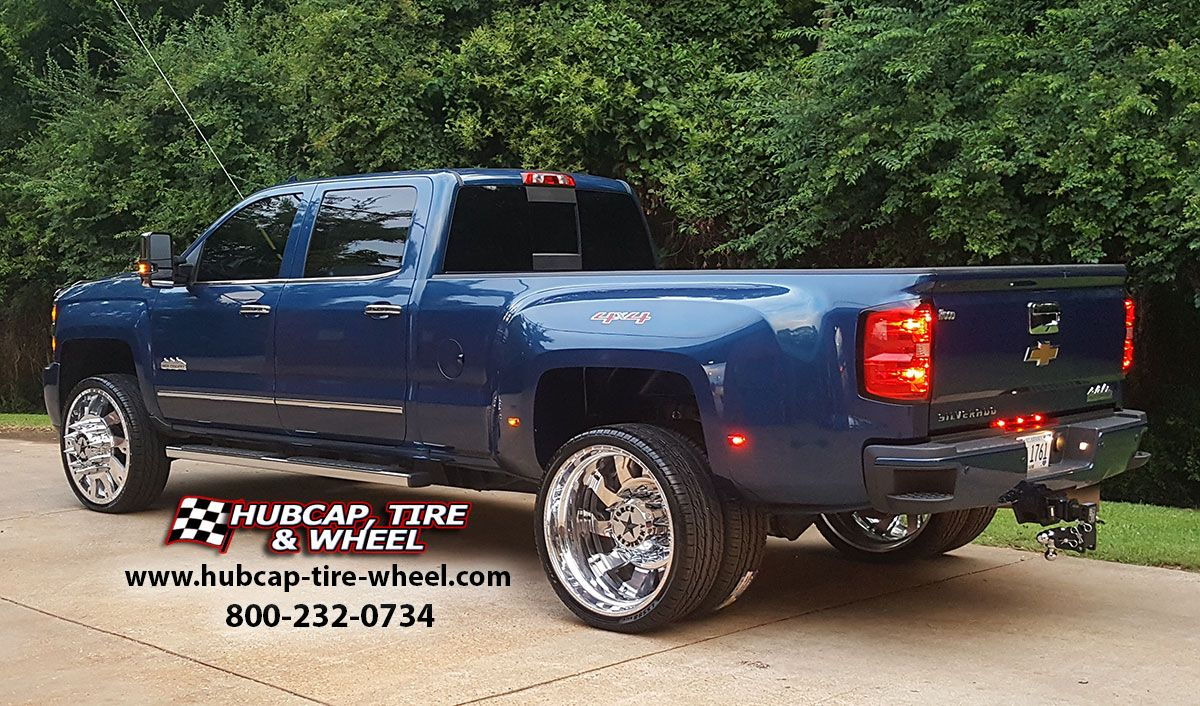 American force polished raptor wheels look phenomenal on the 2016 chevrolet silverado 3500 dually high country